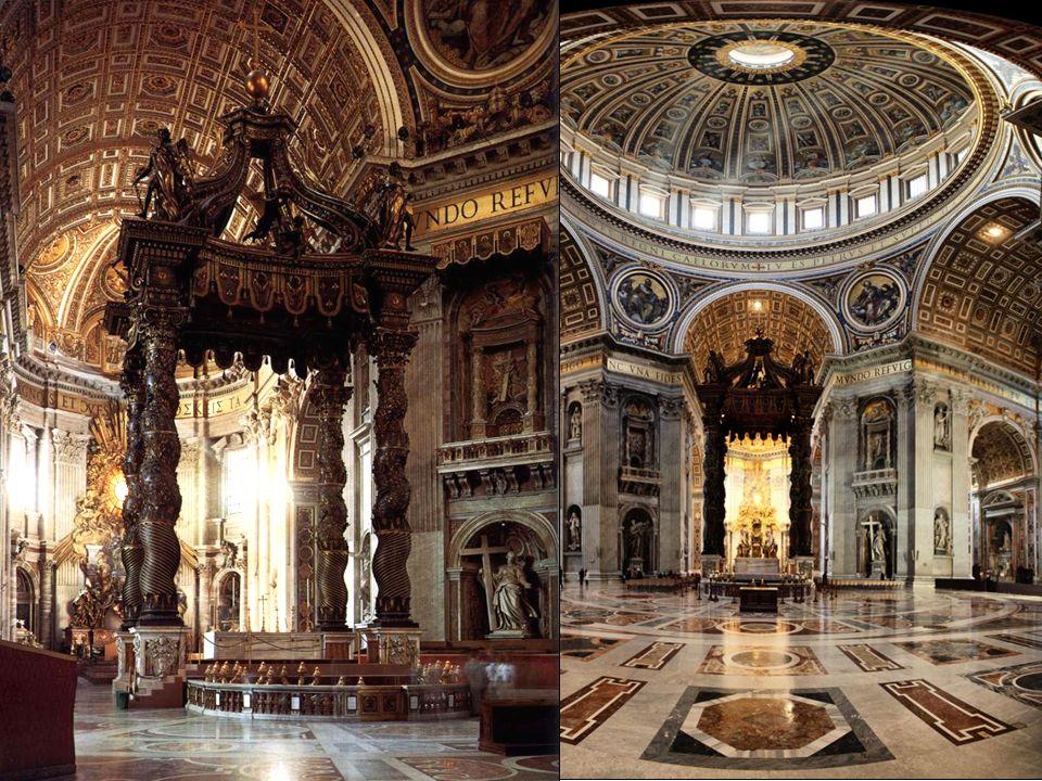 Gian Lorenzo Bernini, Plaza de San Pedro y Baldaquino, Vaticano, 1656-1657 Gian Lorenzo Bernini, Tumba de Alejandro VII