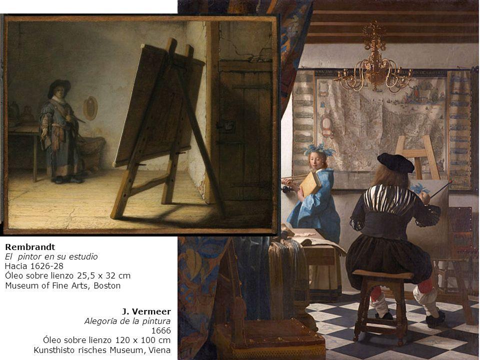 Vermeer El arte de la pintura (Alegoría de la pintura) 1666 Óleo sobre lienzo 120 x 100 cm Museo de Historia del Arte, viena, Austria Velazquez 1656-7