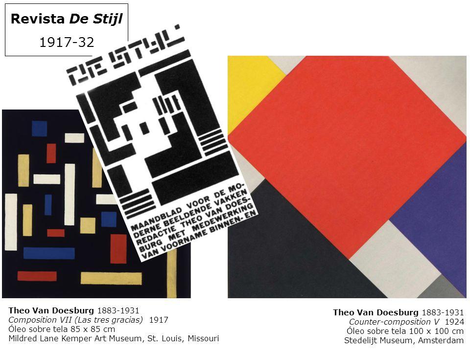 Revista De Stijl 1917-32 Theo Van Doesburg 1883-1931 Composition VII (Las tres gracias) 1917 Óleo sobre tela 85 x 85 cm Mildred Lane Kemper Art Museum