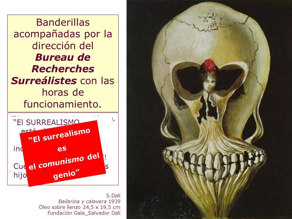 S.Dalí Bailarina y calavera 1939 Óleo sobre lienzo 24,5 x 19,5 cm Fundación Gala_Salvador Dalí La poesía debe ser hecha por todos bello como el encuen