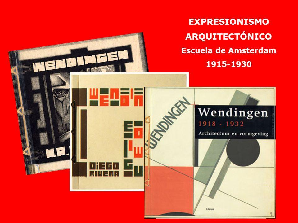 EXPRESIONISMO ARQUITECTÓNICO Escuela de Amsterdam 1915-1930