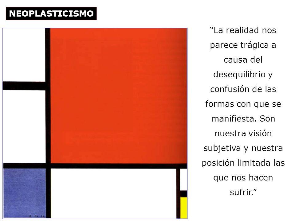 Piet Mondrian Composición con amarillo, azul y rojo, 1937-42 Óleo sobre tela 72,5 x 69 cm, Tate, Gallery, Londres Detrás de las formas naturales cambiantes se encuentra la pura e invariable realidad.