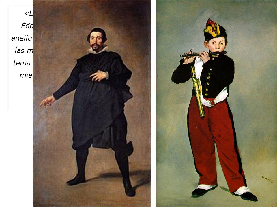 Édouard Manet 1832- 1883 «Los pintores, y especialmente Édouard Manet, que es un pintor analítico, no comparten la obsesión de las masas por el tema:
