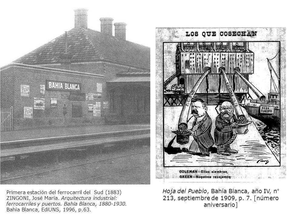 Primera estación del ferrocarril del Sud (1883) ZINGONI, José María.