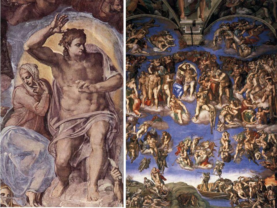 Michelangelo Buonarroti Caprese 1475- Roma 1564 Bóveda 1508-12 Fresco 1.100 metros cuadrados Juicio Final 1535-41 Fresco 13,7 x 12, 2 m Capilla Sixtin