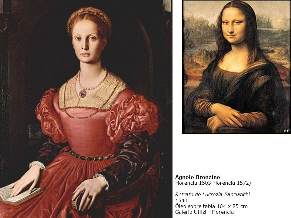 Agnolo Bronzino Florencia 1503-Florencia 1572) Retrato de Lucrezia Panziatichi 1540 Óleo sobre tabla 104 x 85 cm Galería Uffizi - Florencia