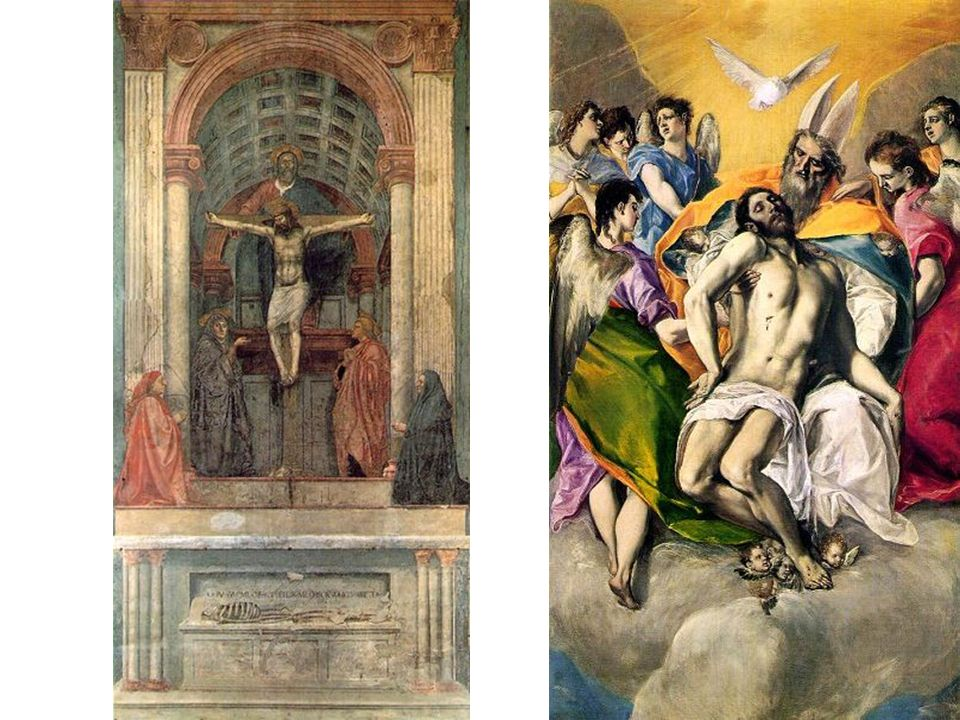 El Greco Domenikos Theotokopoulos 1541-1614 La Trinidad Toledo - 1577-80 Óleo sobre tela 300 x 179 cm Museo del Prado - Madrid