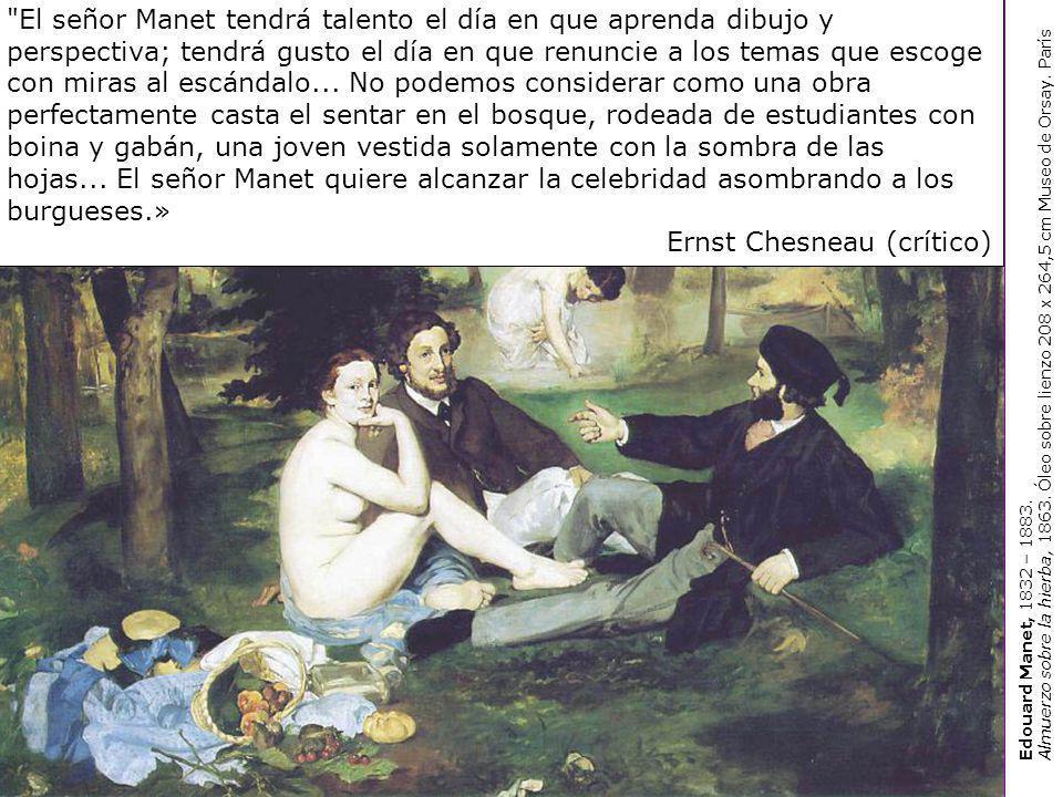 Edouard Manet Olympia, 1863.Óleo sobre lienzo 130,5 x 190 cm Museo de Orsay.