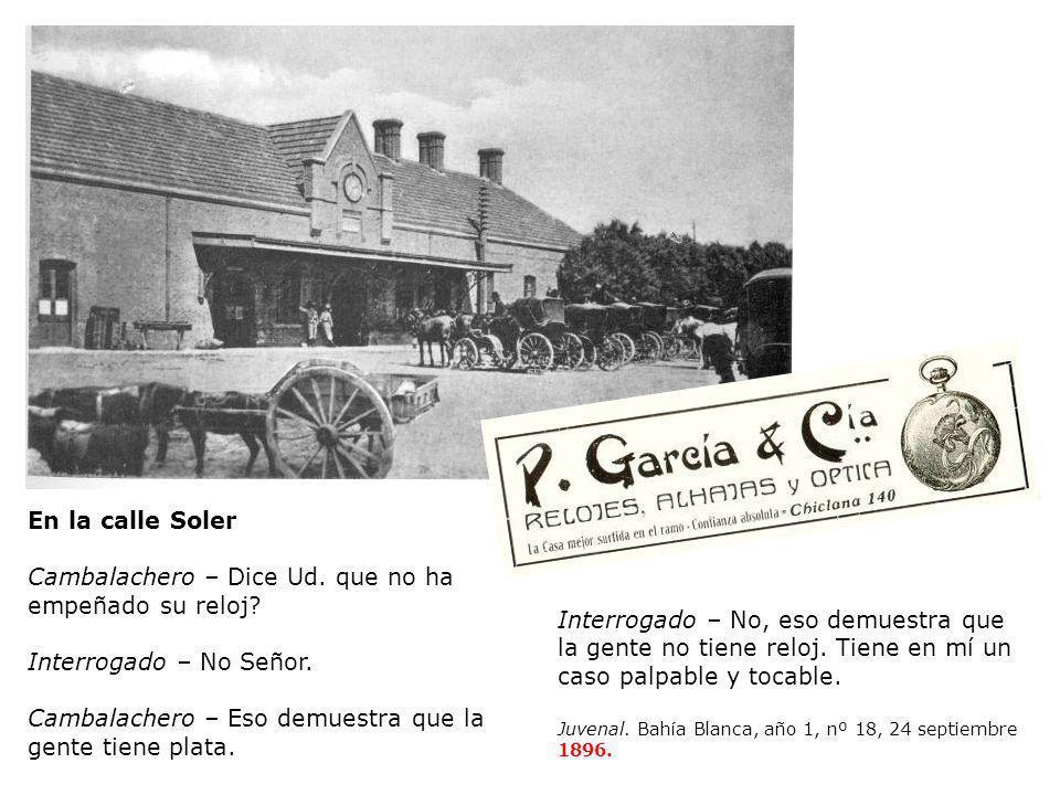 Guía Comercial de Bahía Blanca 1900 Primera estación del ferrocarril del Sud (1883) ZINGONI, José María.