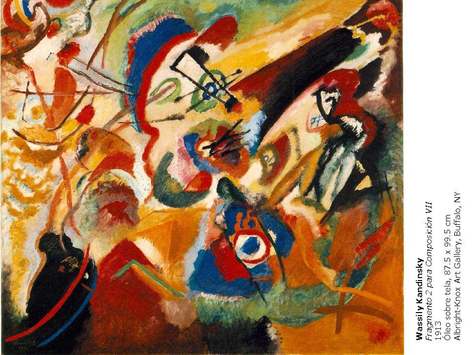 Wassily Kandinsky Fragmento 2 para Composición VII 1913 Óleo sobre tela, 87.5 x 99.5 cm Albright-Knox Art Gallery, Buffalo, NY