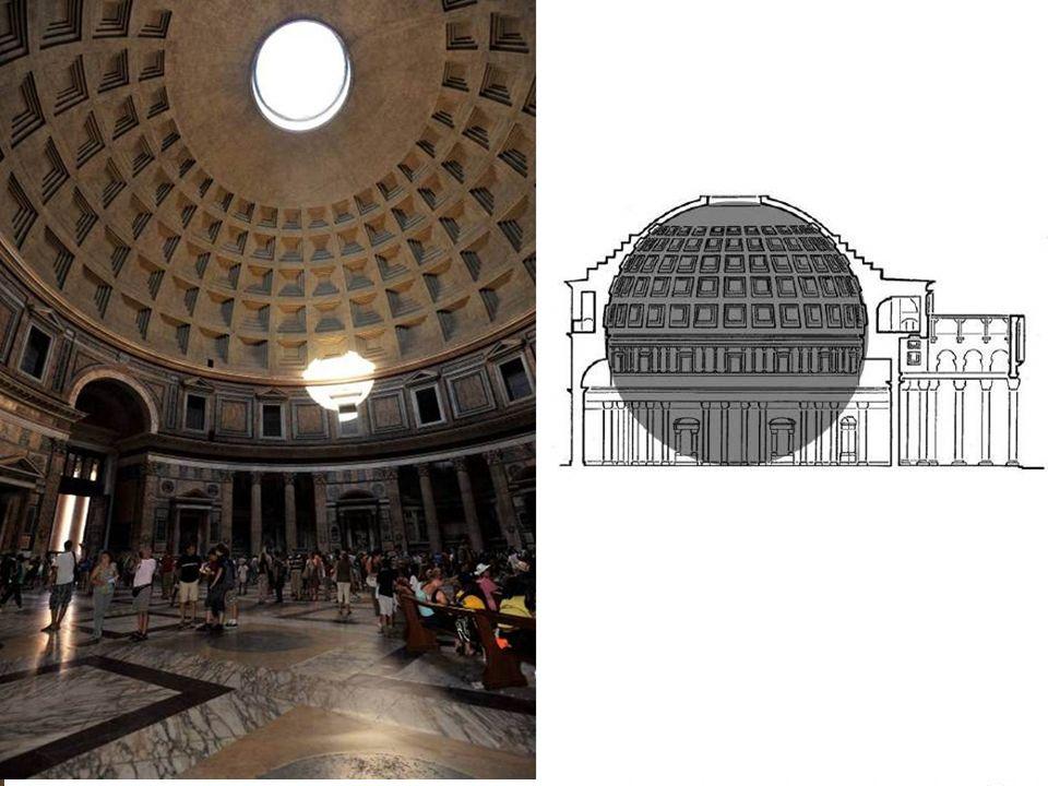 Panteón, 43,44 m, Roma, 25 a.C.