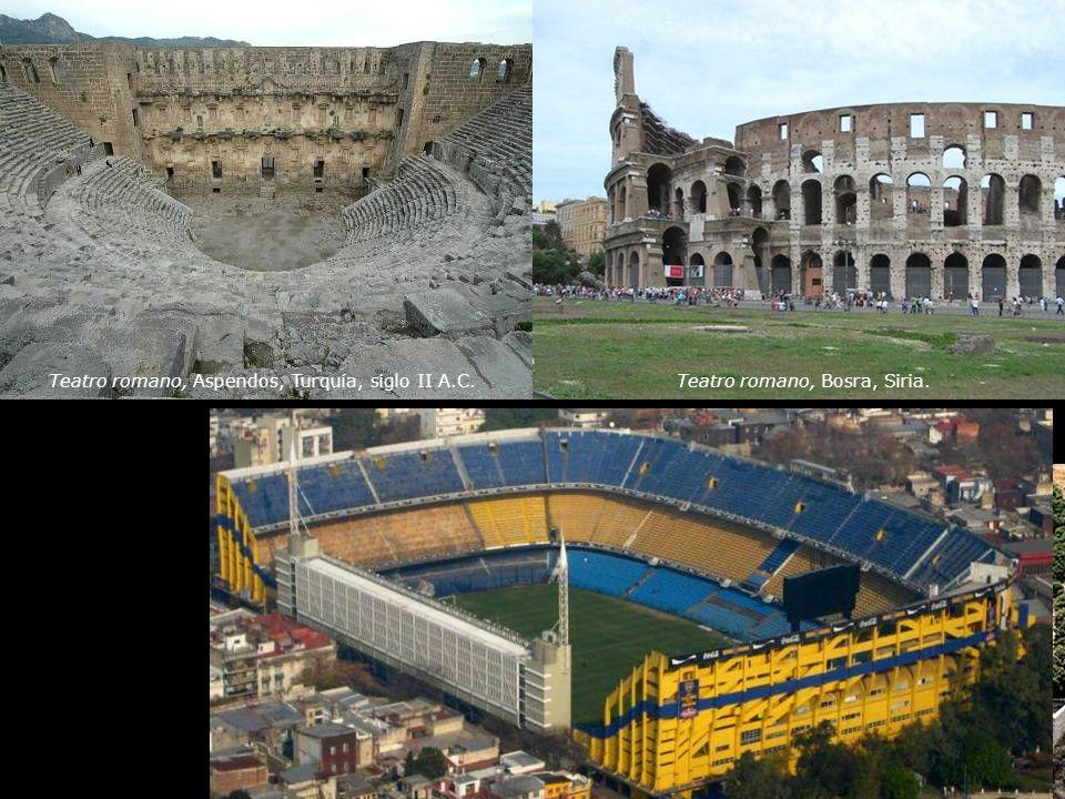 Teatro romano, Bosra, Siria.Teatro romano, Aspendos, Turquía, siglo II A.C.