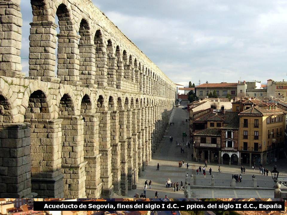 Acueducto de Segovia, fines del siglo I d.C. – ppios. del siglo II d.C., España