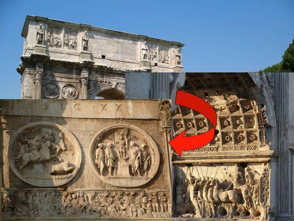 Arco de Constantino, 11,5 m, 315 d.C., Roma