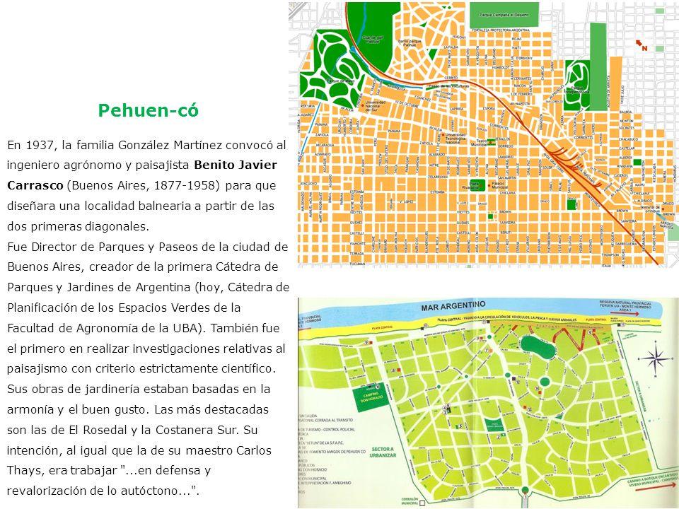 En 1937, la familia González Martínez convocó al ingeniero agrónomo y paisajista Benito Javier Carrasco (Buenos Aires, 1877-1958) para que diseñara un