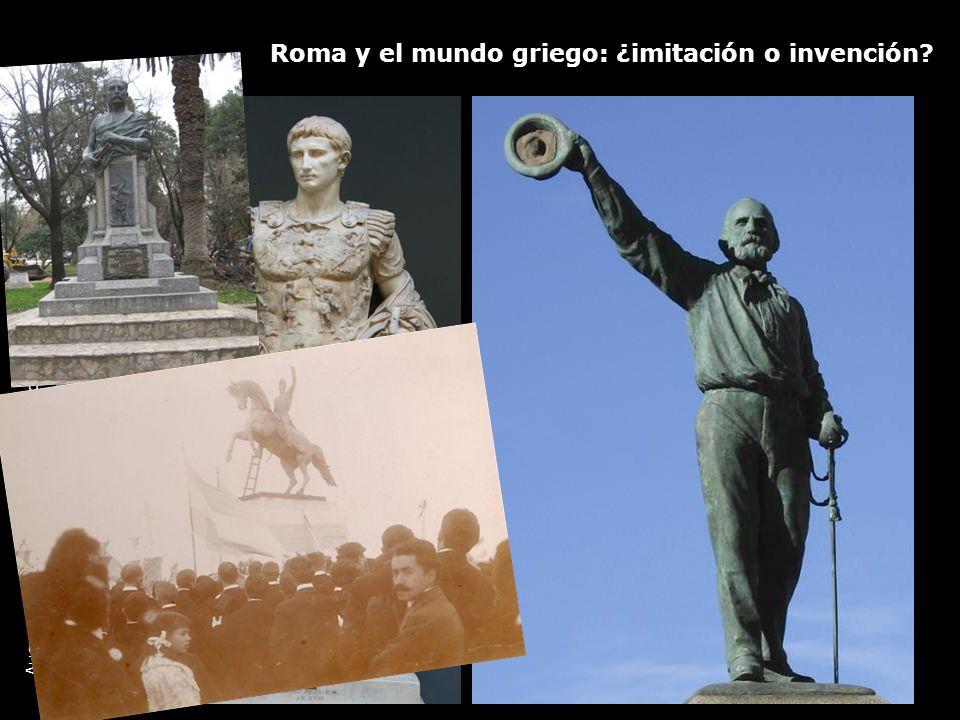 Roma y el mundo griego: ¿imitación o invención? Augusto en Prima Porta, Mármol, Roma, Galerías Vaticanas, 19 d.C.