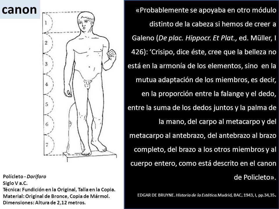 Polícleto - Doríforo Siglo V a.C. Técnica: Fundición en la Original, Talla en la Copia. Material: Original de Bronce, Copia de Mármol. Dimensiones: Al