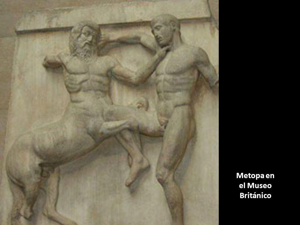 Metopa en el Museo Británico