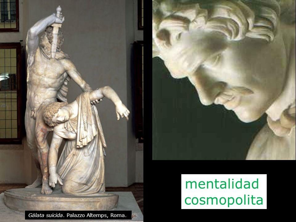Gálata suicida. Palazzo Altemps, Roma. mentalidad cosmopolita