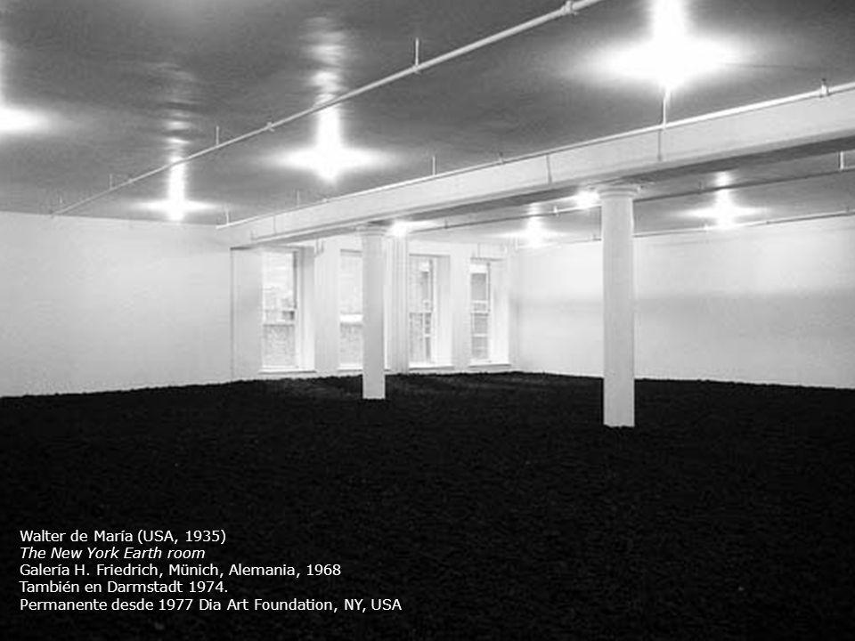 Walter de María (USA, 1935) The New York Earth room Galería H. Friedrich, Münich, Alemania, 1968 También en Darmstadt 1974. Permanente desde 1977 Dia
