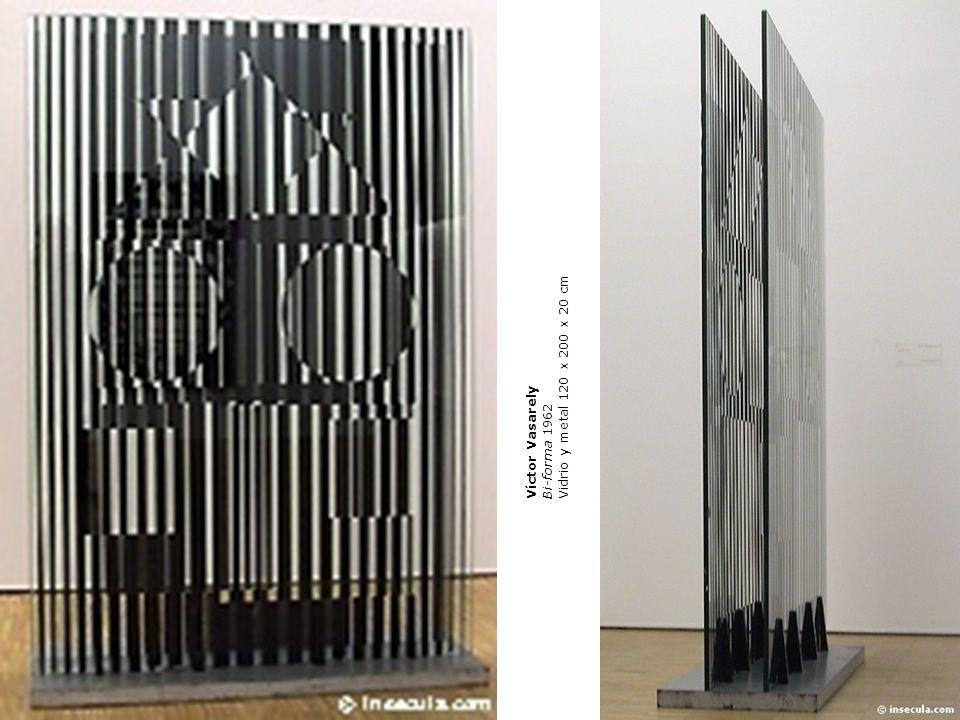 Víctor Vasarely Bi-forma 1962 Vidrio y metal 120 x 200 x 20 cm