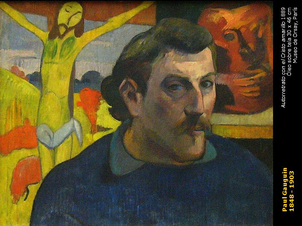 Paul Gauguin 1848 - 1903 Autorretrato con el Cristo amarillo 1889 Óleo sobre tela 30 x 46 cm Museo de Orsay, París