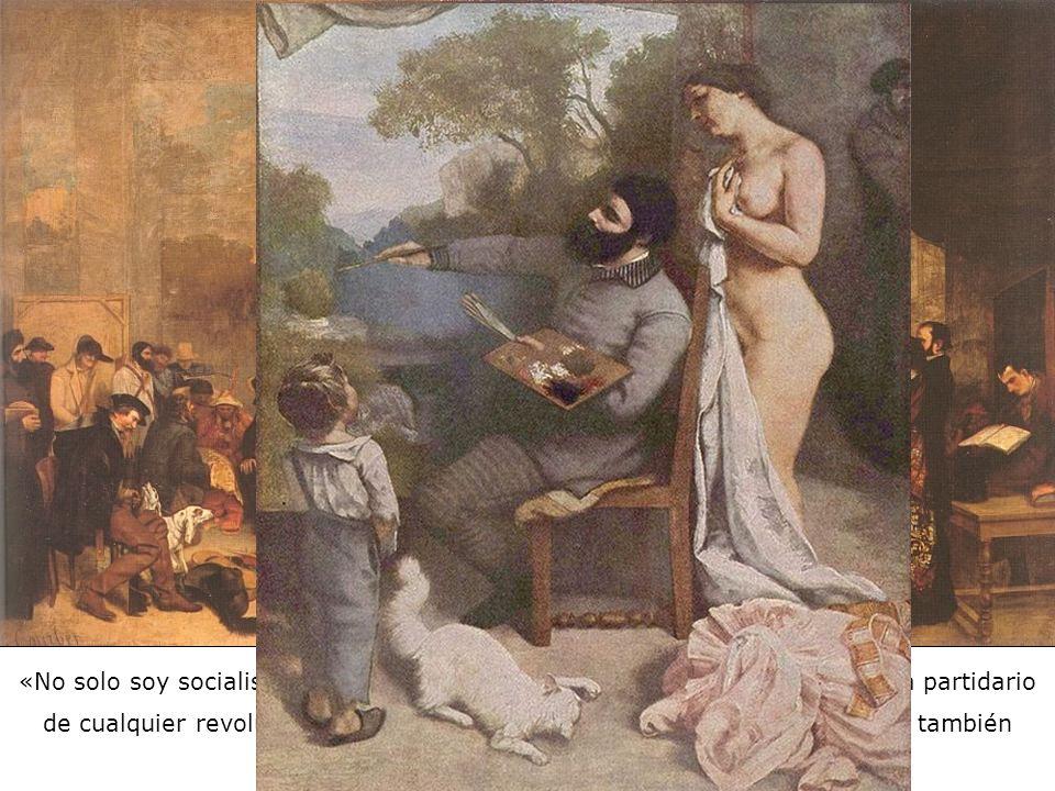 Gustave Courbet El taller del pintor, alegoría real, determinante de siete años de una fase de mi vida artística (y moral) – 1855 Rechazado por el Jur
