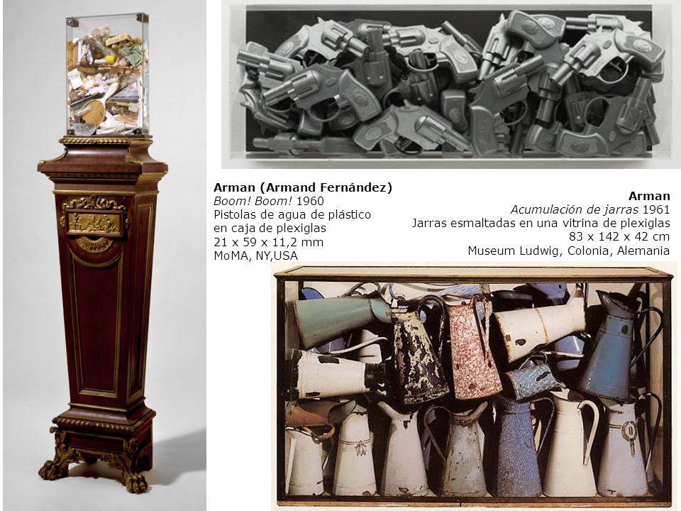 Arman Acumulación de jarras 1961 Jarras esmaltadas en una vitrina de plexiglas 83 x 142 x 42 cm Museum Ludwig, Colonia, Alemania Arman (Armand Fernánd