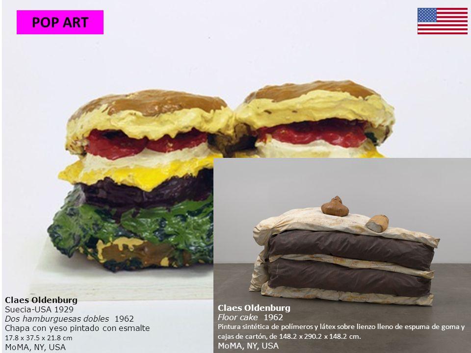 Claes Oldenburg Suecia-USA 1929 Dos hamburguesas dobles 1962 Chapa con yeso pintado con esmalte 17.8 x 37.5 x 21.8 cm MoMA, NY, USA Claes Oldenburg Fl