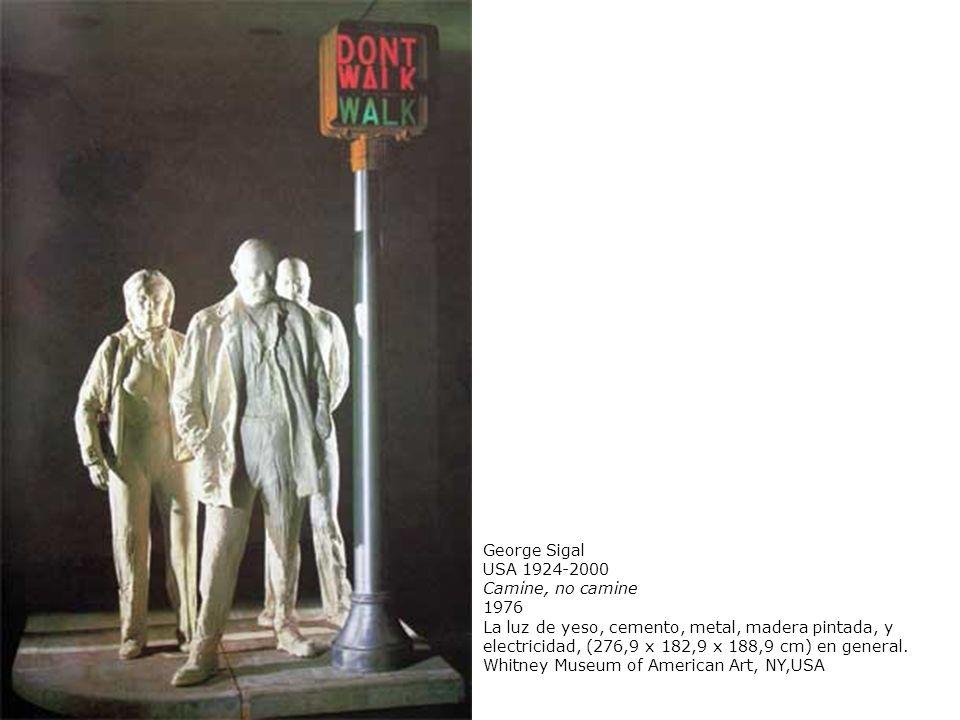 George Sigal USA 1924-2000 Camine, no camine 1976 La luz de yeso, cemento, metal, madera pintada, y electricidad, (276,9 x 182,9 x 188,9 cm) en genera