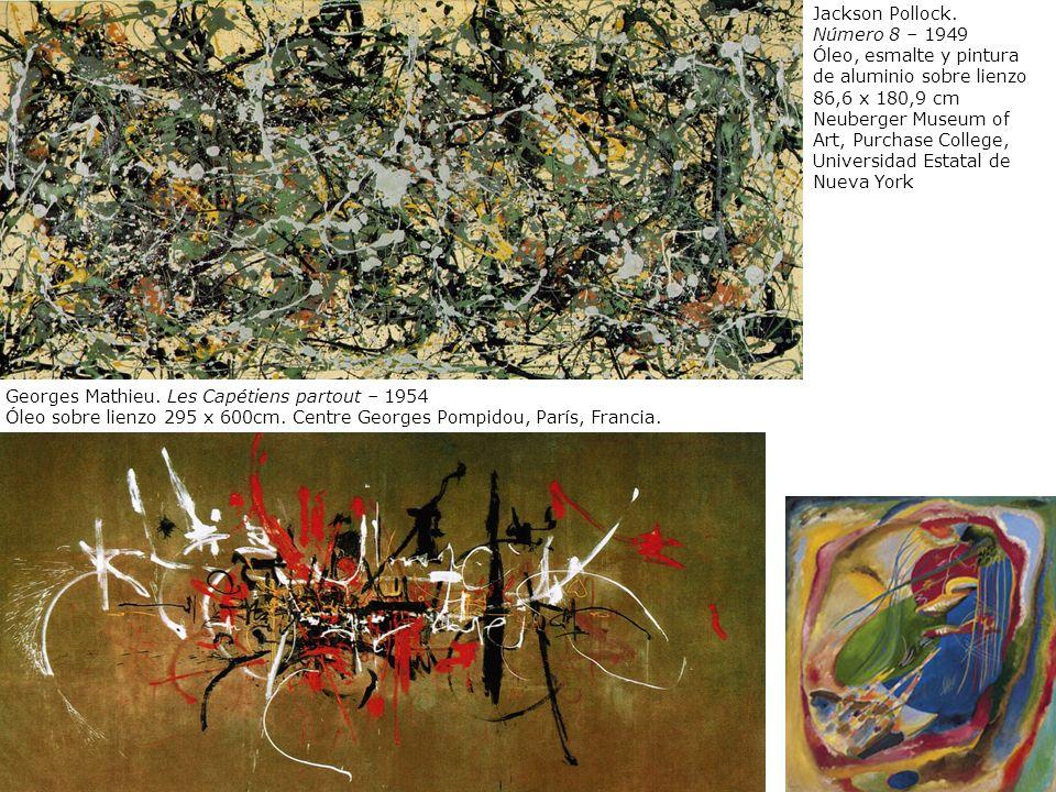Jackson Pollock. Número 8 – 1949 Óleo, esmalte y pintura de aluminio sobre lienzo 86,6 x 180,9 cm Neuberger Museum of Art, Purchase College, Universid