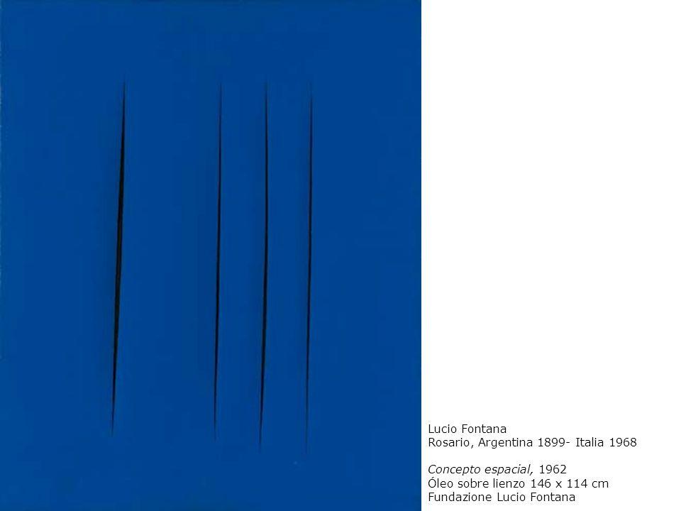 Lucio Fontana Rosario, Argentina 1899- Italia 1968 Concepto espacial, 1962 Óleo sobre lienzo 146 x 114 cm Fundazione Lucio Fontana