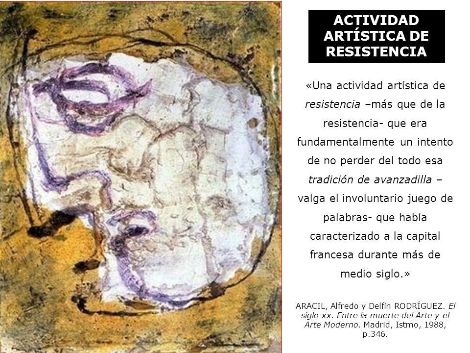Jean FAUTRIER (1898-1964) Pequeño rehén N°2 1943 Óleo sobre tela Colección particular - París ACTIVIDAD ARTÍSTICA DE RESISTENCIA ARTE TESTIMONIAL «Una