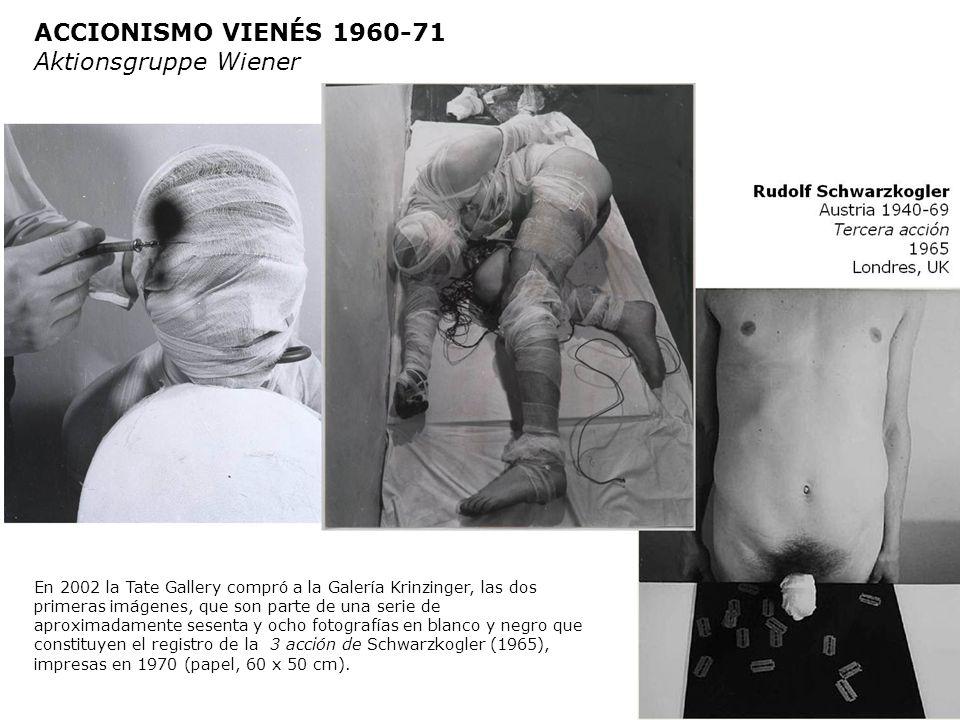 Salvo la primera Acción, las cinco suguientes fueron realizadas en el departamento del artista Heinz Cibulka (1943) en Kaiserstrasse en Viena. Fueron