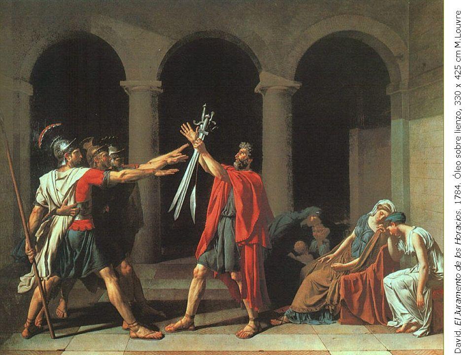 J-L. David. El Juramento de los Horacios. 1784. Óleo sobre lienzo, 330 x 425 cm M.Louvre