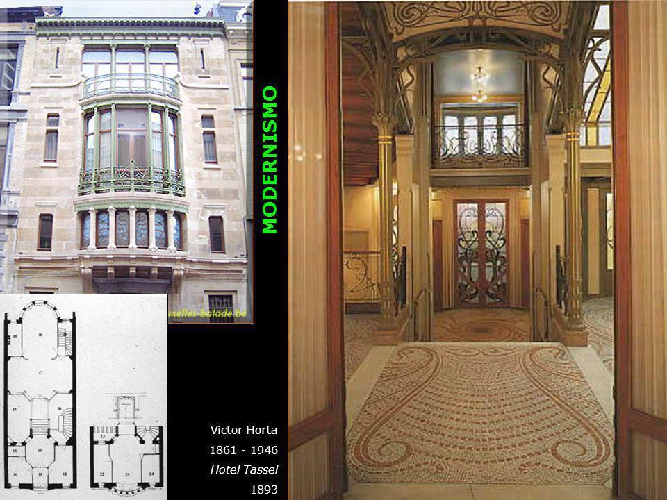 Víctor Horta 1861 - 1946 Hotel Tassel 1893 MODERNISMO