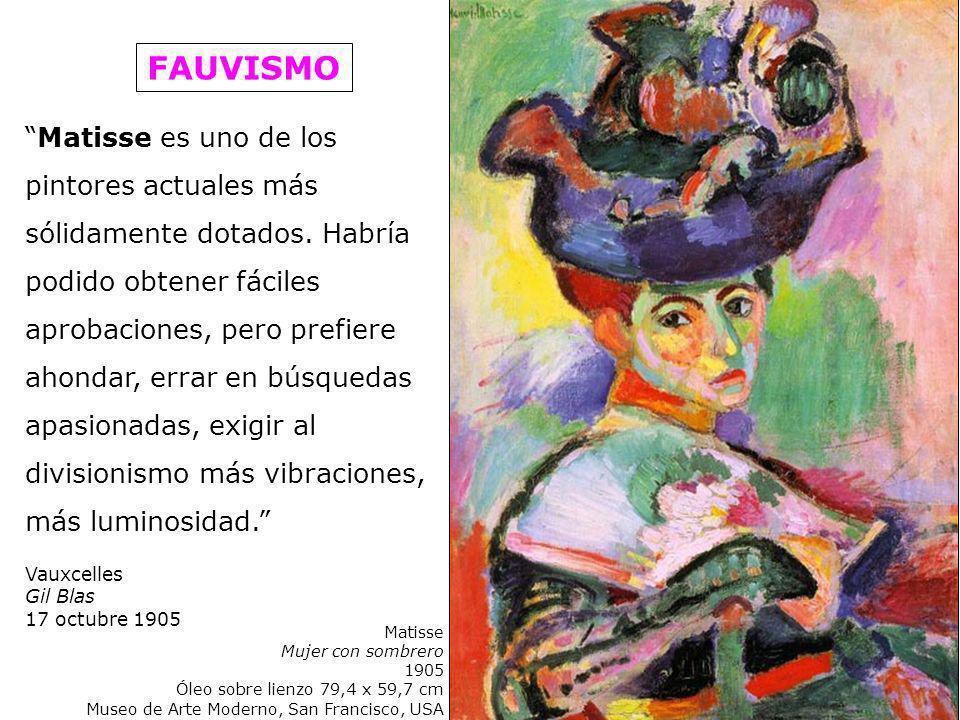 Matisse es uno de los pintores actuales más sólidamente dotados. Habría podido obtener fáciles aprobaciones, pero prefiere ahondar, errar en búsquedas