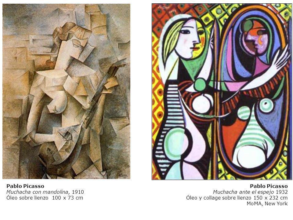 Pablo Picasso Muchacha con mandolina, 1910 Óleo sobre lienzo 100 x 73 cm Pablo Picasso Muchacha ante el espejo 1932 Óleo y collage sobre lienzo 150 x