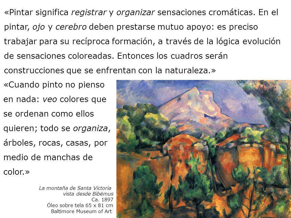 «Cuando pinto no pienso en nada: veo colores que se ordenan como ellos quieren; todo se organiza, árboles, rocas, casas, por medio de manchas de color