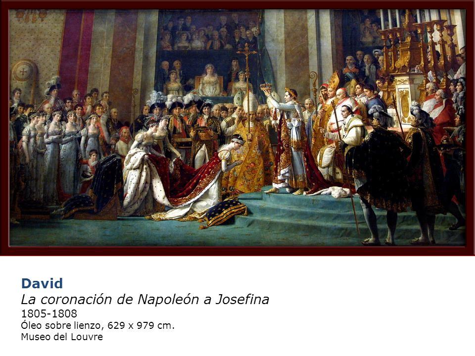 David La coronación de Napoleón a Josefina 1805-1808 Óleo sobre lienzo, 629 x 979 cm.