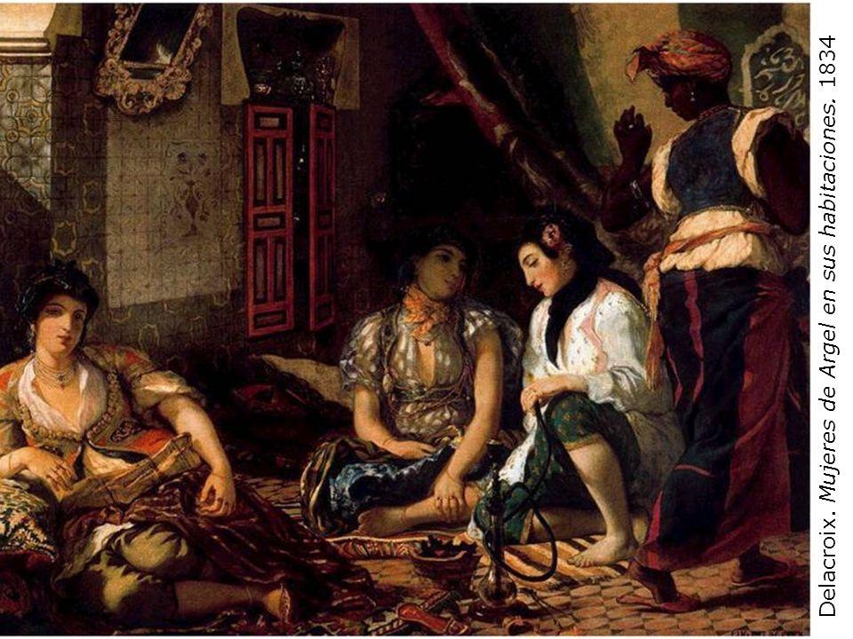 Delacroix. Mujeres de Argel en sus habitaciones. 1834