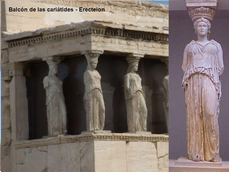 Erecteion (ca. 421-405) Balcón de las cariátides - Erecteion