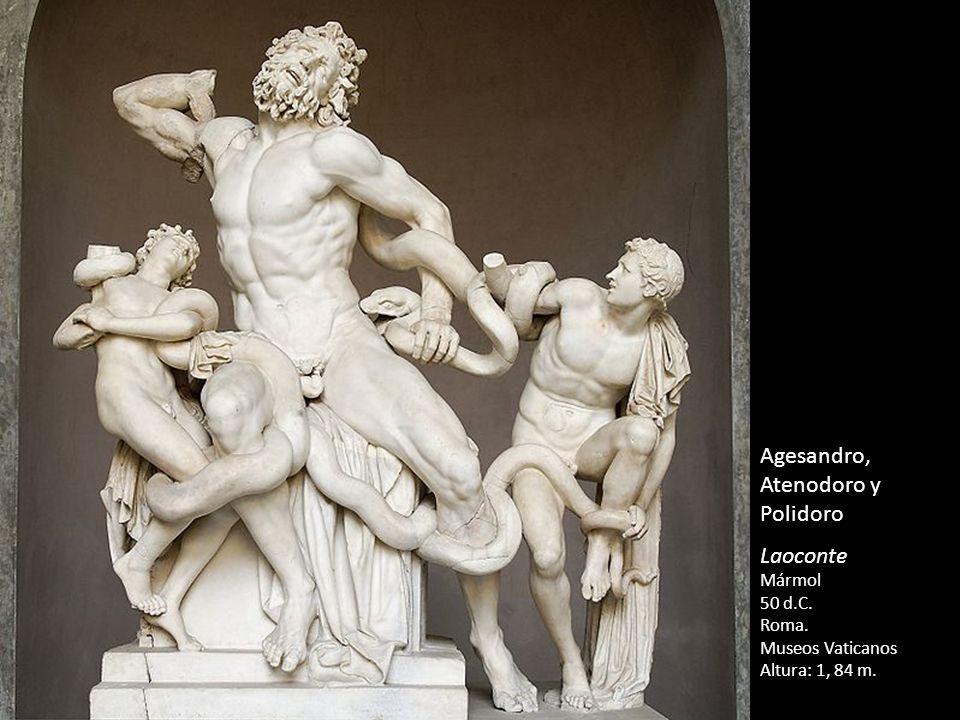 Agesandro, Atenodoro y Polidoro Laoconte Mármol 50 d.C. Roma. Museos Vaticanos Altura: 1, 84 m.