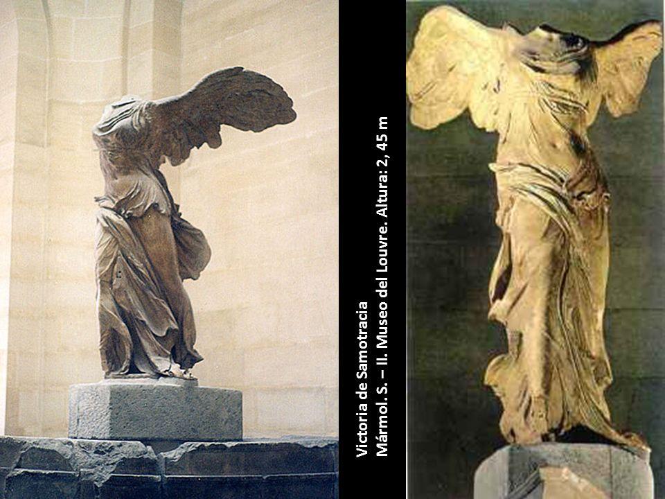 Victoria de Samotracia Mármol. S. – II. Museo del Louvre. Altura: 2, 45 m