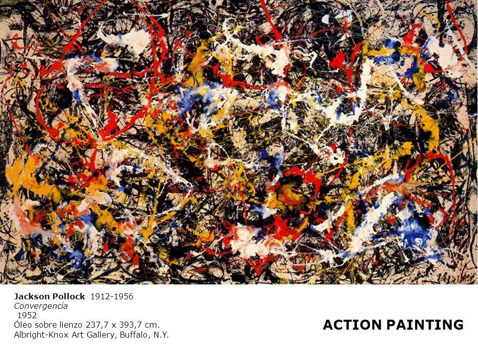 Jackson Pollock 1912-1956 Convergencia 1952 Óleo sobre lienzo 237,7 x 393,7 cm. Albright-Knox Art Gallery, Buffalo, N.Y. ACTION PAINTING