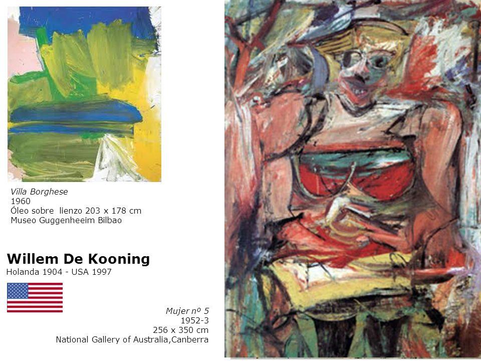 Mujer nº 1 1952 Óleo sobre tela 147,3 x 192,7 cm MoMA, YY, USA Willem De Kooning Holanda 1904 - USA 1997 Mujer nº 3 1951-3 172,7 x 123,2 cm Colección