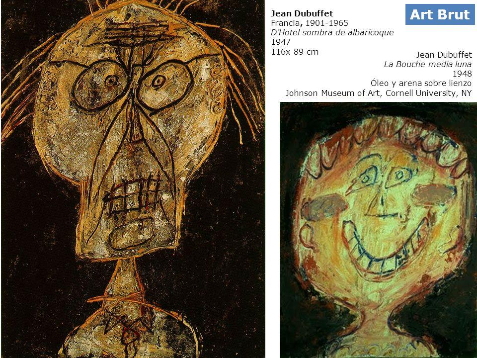 Jean Dubuffet Francia, 1901-1965 DHotel sombra de albaricoque 1947 116x 89 cm Jean Dubuffet La Bouche media luna 1948 Óleo y arena sobre lienzo Johnso