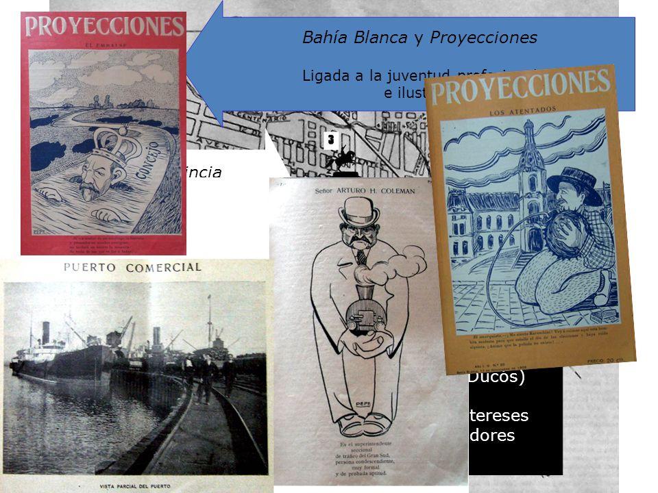 Bahía Blanca y Proyecciones Ligada a la juventud profesional e ilustrada La Nueva Provincia (dir. Enrique Julio) Ligada al grupo dirigente (Comité Pop