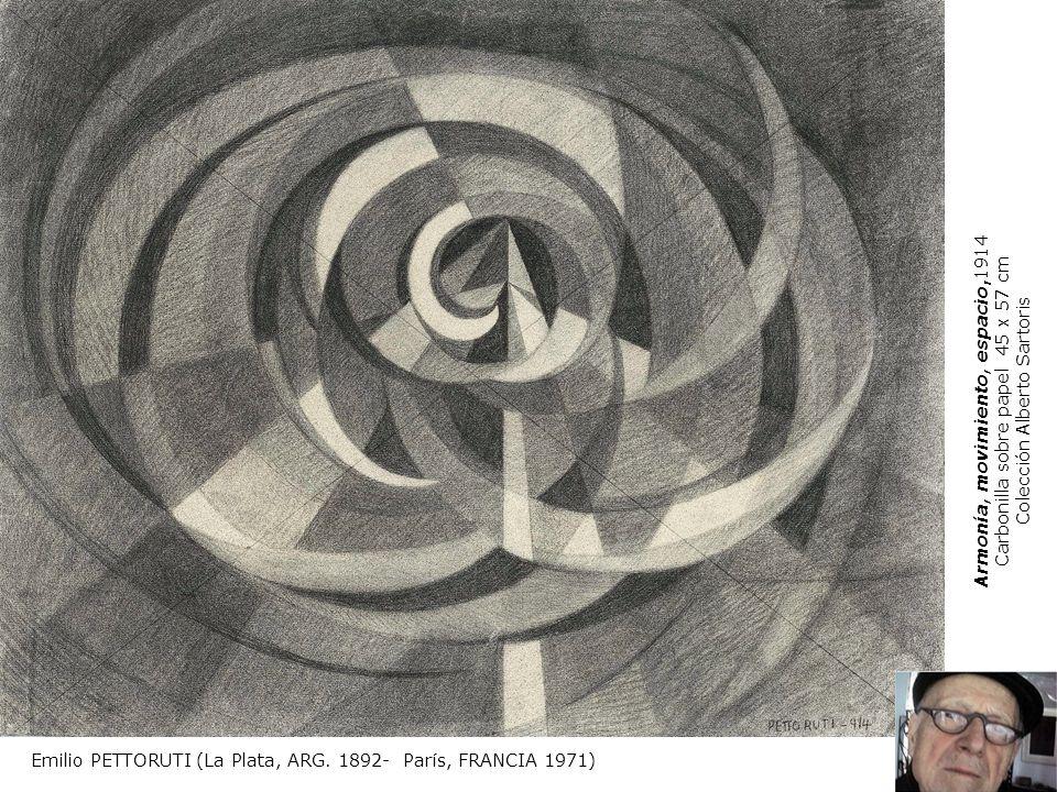 Emilio PETTORUTI (La Plata, ARG. 1892- París, FRANCIA 1971) Armonía, movimiento, espacio,1914 Carbonilla sobre papel 45 x 57 cm Colección Alberto Sart