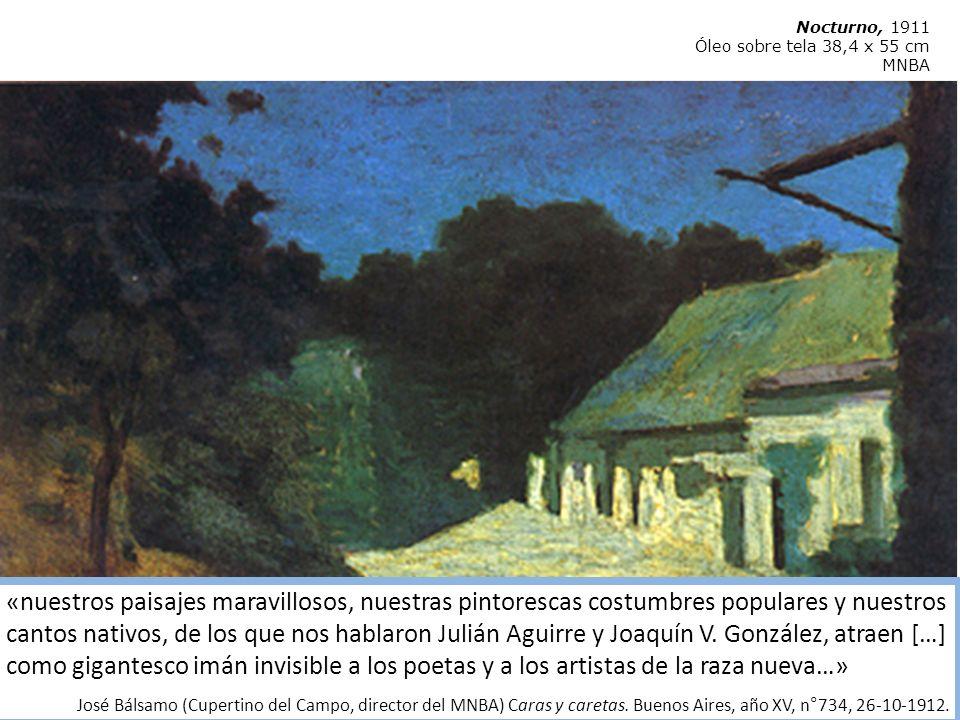Fernando Fader Burdeos 1882 – Córdoba 1935) La mazamorra,1927 Óleo sobre tela, 100 x 120 cm.